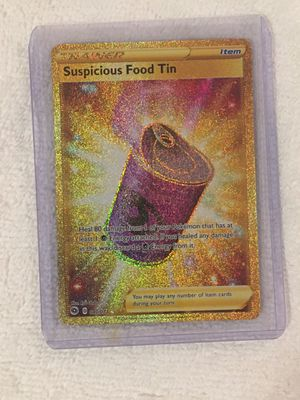 Secret rare Suspicious Food Tin / Scoop Up Net Pokémon cards for Sale in Houston, TX