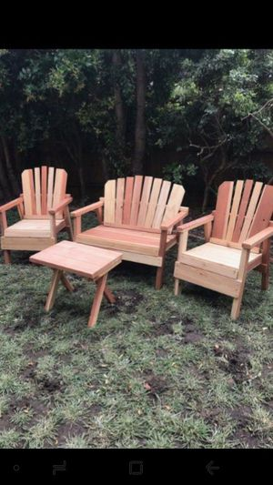 Vendo Adirondack chairs seating for Sale in Los Angeles, CA