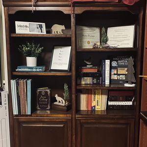 Beautiful Mocha Book Shelf. for Sale in Costa Mesa, CA
