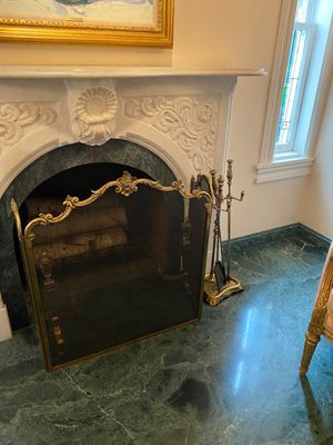 Gold Detailed Fireplace Door for Sale in Deal, NJ