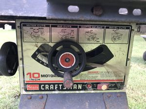 Sears Craftman Table saw for Sale in Monroe, NC