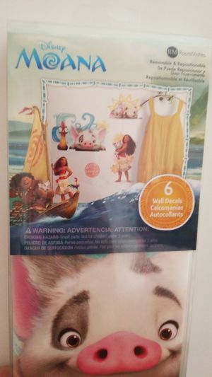moana 6 piece wall decals for Sale in Hartford, CT