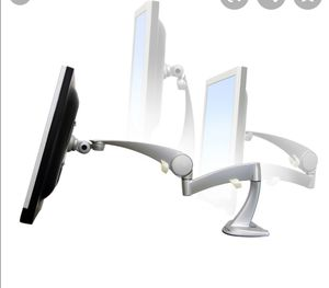 3 Dell 22-in screen monitors and 3 NeoFlex monitor arms for Sale in Fort Lauderdale, FL