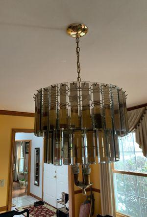Glass pendant light fixture for Sale in Darien, IL