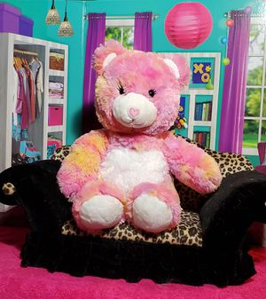"""16"""" Build A Bear Endless Heart Hugs Pastel Tie Dye Sherbert BABW Plush Teddy for Sale in Dale, TX"""