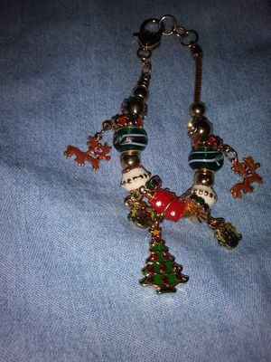 Colorful Old Fashioned Christmas Charm Bracelet for Sale in Detroit, MI