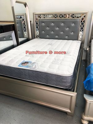KING SIZE BED FRAME NEW IN BOX 📦 MATTRESS AND BOX SPRING READY FOR PICK UP OR DELIVERY AVAILABLE 🍁🍁HABLAMOS ESPAÑOL 🍁🍁 for Sale in Carson, CA