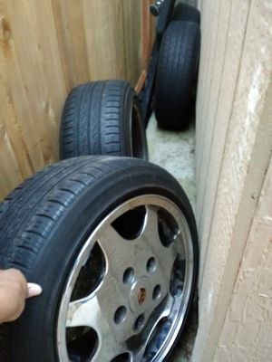Porch c4 rims with 4 lug adapters for Sale in SeaTac, WA