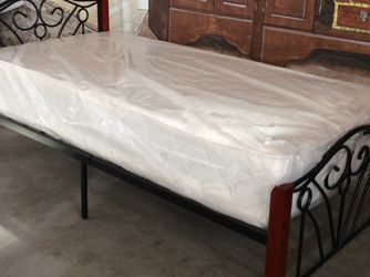 Brand New Twin Bed With Mattress for Sale in Garland,  TX