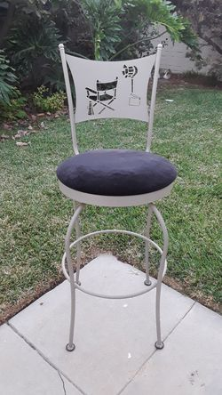 DIRECTOR CHAIR HOLLYWOOD MOVIE FILM PRODUCTION regency KITCHEN DINING LIVING HIGH COUNTER BAR STOOL for Sale in Glendale,  CA