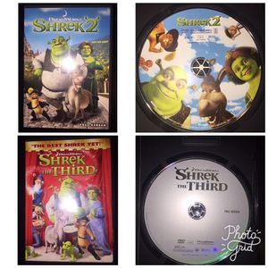 Shrek 2 & Shrek The Third DVDs for Sale in Mansfield, TX