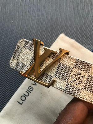 Tittle: mens louis vuitton damier azur white leather belt Description: Authentic louis vuitton damier azur leather belt for Sale in Brooklyn, NY