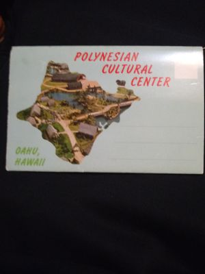 Oahu, Hawaii polynesian cultural center post card for Sale in Binghamton, NY