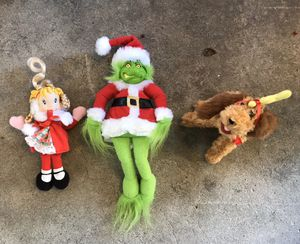 Plush Grinch, Max and Cindy Lou Who set for Sale in South San Francisco, CA