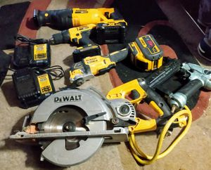 DeWalt tools and a Hitachi nail gun for Sale in Seattle, WA