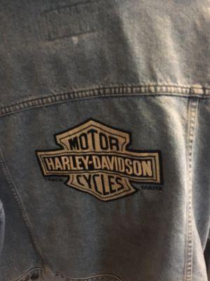 Harley Davidson Jean jacket for Sale in Pasadena, MD