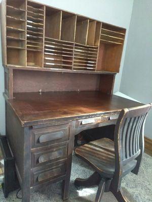 Desk, chair, primitive organizer for Sale in Fort Wayne, IN