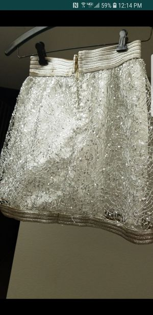 New Casting Fashions Silver skirt Small /Medium. for Sale in Chino, CA