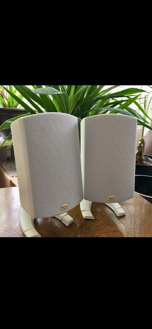 "2 Klipsch premium speakers 9"" x 4"" white 100 W 8 omh for Sale in Midlothian, VA"