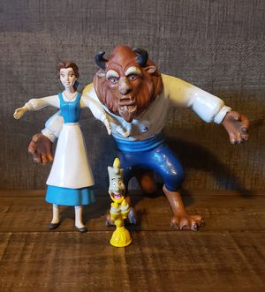 Vintage Beauty and the Beast rubber figures by Just Toys for Sale in Davis, CA