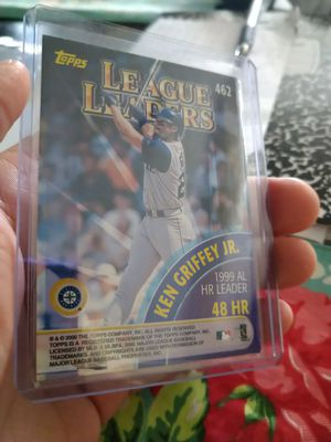 Ken griffey Jr 2000 Topps League Leaders Home Runs baseball card for Sale in Tampa, FL