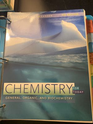 Chemistry General, Organic, and Biochemistry PaperBook for Sale in Chula Vista, CA
