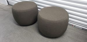 Two (2) brown/grey ottomans for Sale in Denver, CO