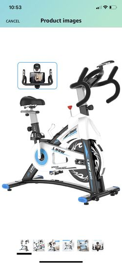 Indoor Exercise Bike Indoor Cycling Stationary Bike, Belt Drive with Heart Rate, Adjustable Seat and Handlebar, Tablet Holder, Stable Quiet and Smooth for Sale in Staten Island, NY