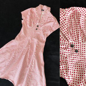 Red & White dotted Vintage Sweetheart dress for Sale in Montebello, CA