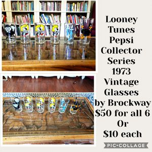 Pepesi glass looney toon collection for Sale in Tampa, FL