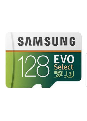 Samsung 128GB 100MB/s (U3) MicroSDXC EVO Select Memory Card with Full-Size Adapter (MB-ME128GA/AM) for Sale in Rialto, CA