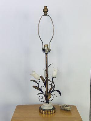 Italian Gilt Tole Art Deco Tulip Lamp for Sale in Miami, FL