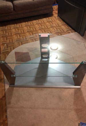 Two tier glass stand for Sale in Fort Washington, MD