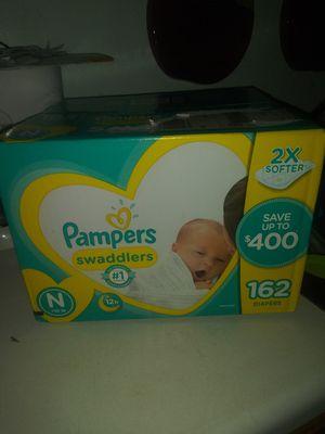 Newborn pamper swaddlers 162 count for Sale in Zephyrhills, FL