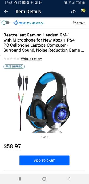 Like New Gaming Headphones for Xbox One/PS4 for Sale in Lady Lake, FL