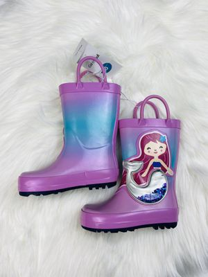 Girls Pink Mermaid rain garden boots Size 7 NEW for Sale in Winchester, CA