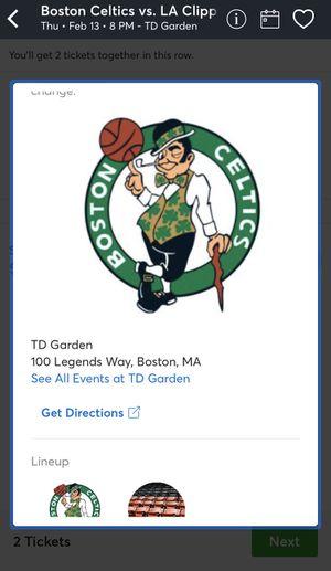 Celtics vs Clippers for Sale in Boston, MA