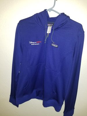 Patagonia Upslope Women's Hoodie Large Blue. Brand New with Tags. Disney and ESPN Media Networks Logo on front. for Sale in Santa Fe Springs, CA