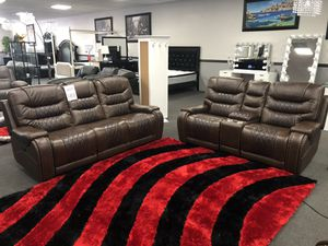 Power Motion Brown Sofa & Love Seat on SALE 🔥 for Sale in Fresno, CA