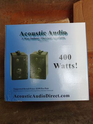 Acoustic Audio Indoor Outdoor 3 Way Speakers 400 Watt for Sale in Gambrills, MD