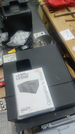 LX2000 label printer with rack, label winder, extra labels and ink for Sale in Oakland, CA