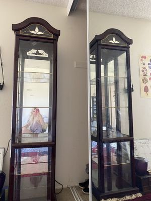 Antique cabinet or shelf with lights for Sale in San Diego, CA