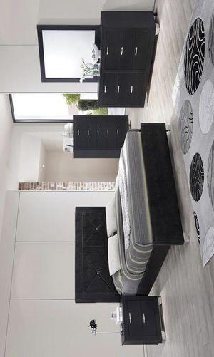 [SPECIAL] Brahma Black Panel Bedroom Set | Queen and King Bedroom Set for Sale in Austin, TX