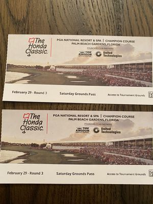 2020 Honda Classic Ground Passes *SATURDAY ONLY* for Sale in Tequesta, FL