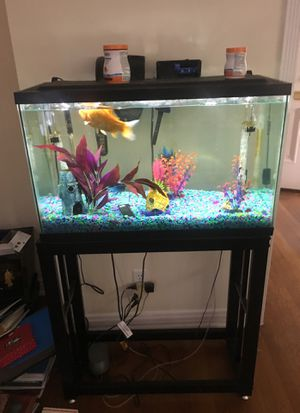 Great fish tank with awesome fish for Sale in Los Angeles, CA