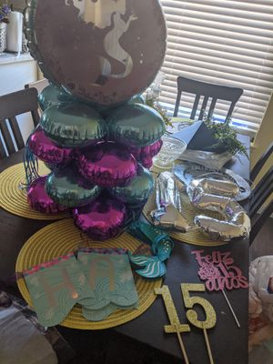 Mermaid/Quince party decorations for Sale in Riverside, CA