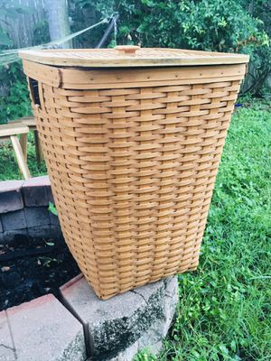 Huge Longaberger basket.Clothes bin. Largo near Indian Rocks for Sale in Largo, FL