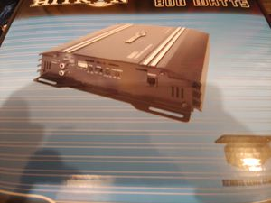 Car amplifier : Hitron 800 watts 2 channel 2 ohm stable built in crossover 25 ×1 fuse & bass control ( brand new ) for Sale in Bell Gardens, CA
