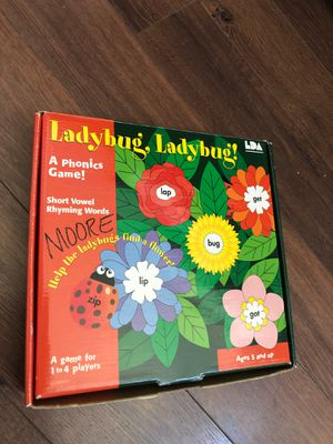 Ladybug, ladybug phonics game - ages 5+ - teach reading - homeschool - for Sale in Buckeye, AZ