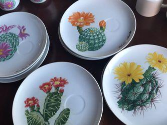 Desert flower garden club series mugs and plates vintage for Sale in Las Vegas,  NV